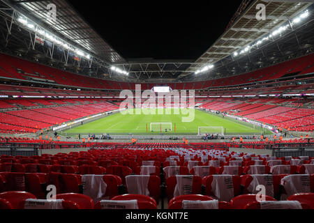 London, UK. 10th Nov, 2017. Wembley stadium before the international soccer match between England and Germany in - Stock Photo
