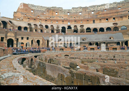 ROMA, ITALY - 01 OCTOBER 2017: Colosseum, Coliseum or Coloseo, Flavian Amphitheatre largest ever built symbol of - Stock Photo