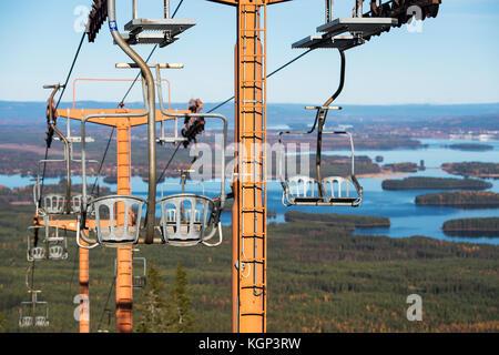 Old Ski lift in Dalarna - Stock Photo