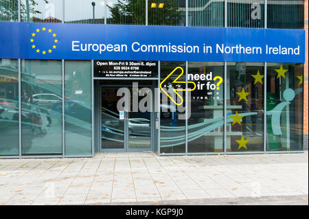 The European Commission office in Belfast. The Office of the European Commission in Northern Ireland was set up - Stock Photo