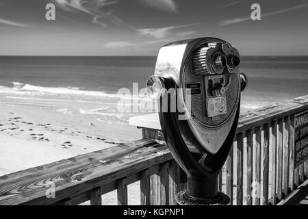 Viewfinder, fishing pier, Fort Mayers, Florida. - Stock Photo