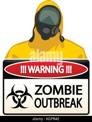 bio hazard man 05 - Stock Photo