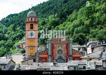 Europe. France. Alpes Maritimes. The village of Tende. - Stock Photo