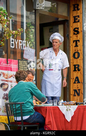 Gjirokaster, Albania - Local tavern in the Old Town - Stock Photo