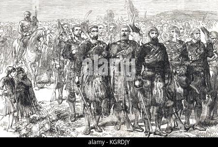 Advance of the Highlanders, Battle of Prestonpans, 21 September 1745 - Stock Photo