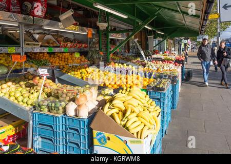 Fruit shop outdoor display, Broadway, West Ealing, London Borough of Ealing, Greater London, England, United Kingdom - Stock Photo