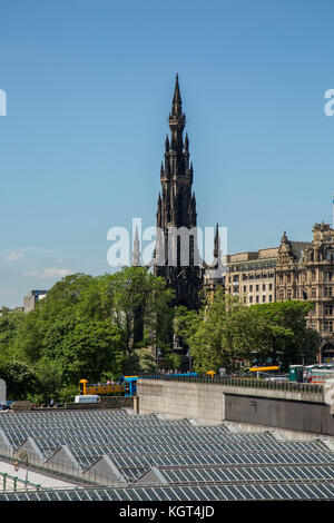 EDINBURGH, SCOTLAND - 26th May 2017 Monument to Sir Walter Scott a popular tourist attraction. Scott is famous for - Stock Photo