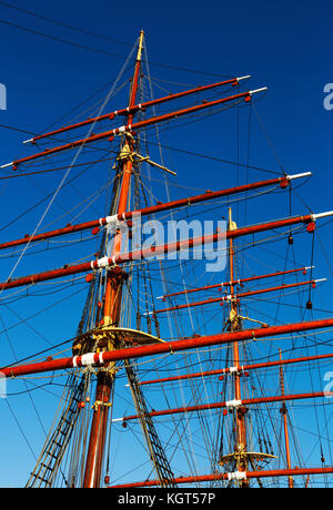 RRS Discovery, Royal Research Ship at Discovery Point, Dundee, Scotland, UK - Stock Photo