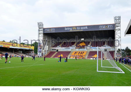 MOTHERWELL, SCOTLAND - JUNE 14 2014: Scotland's National Women football team training before an international match - Stock Photo