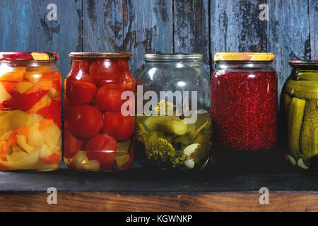 Variety of pickled vegetables - Stock Photo