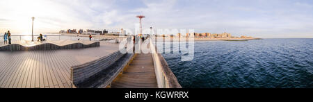 Steeplechase Pier at Coney Island in Brooklyn, New York, NY, United States of America. - Stock Photo