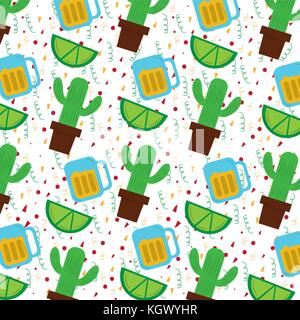 mexican cactus plant and tequila lemon - Stock Photo