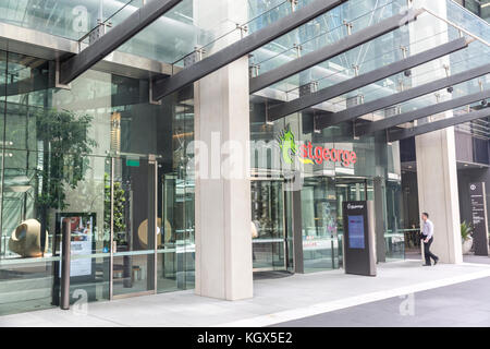 St George bank branch in Barangaroo,Sydney city centre,New South Wales,Australia - Stock Photo