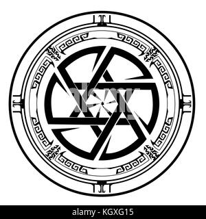 Star of David , Shield of David , Magen David , vector illustration , icon - Stock Photo