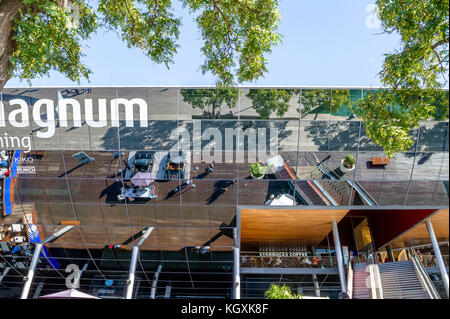 The Maremagnum, a large shopping mall on the waterfront near Port Vell, Barcelona, Spain - Stock Photo