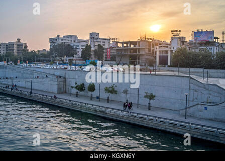 sabarmati riverfront, ahmedabad, Gujarat, India, Asia - Stock Photo