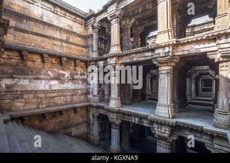 Dada harir step well, ahmedabad, Gujarat, India, Asia - Stock Photo