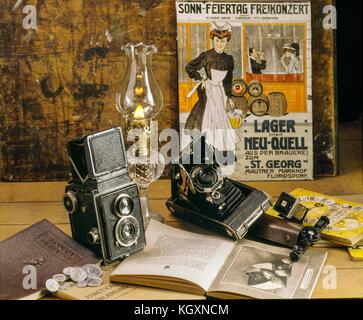 Rolleiflex twin lens camera - Stock Photo