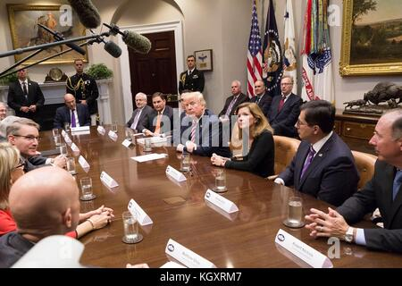 U.S. President Donald Trump hosts a tax reform meeting at the White House October 31, 2017 in Washington, DC.  (photo - Stock Photo