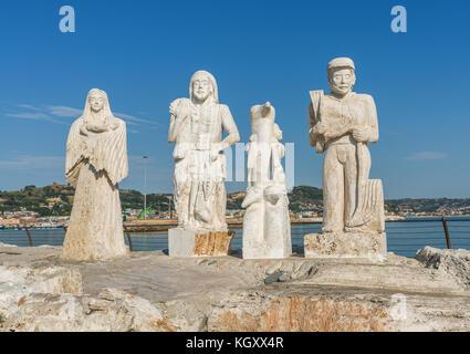 SAN BENEDETTO DEL TRONTO, ITALY - AUGUST 25, 2017: Statue on the south pier of San Benedetto del Tronto - Stock Photo