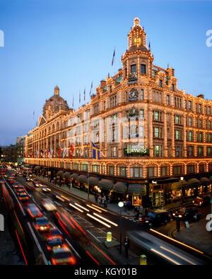 Harrods  Knightsbridge London - Stock Photo