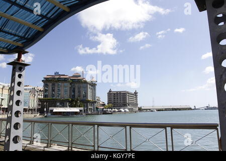Mauritius island buildings of the capital port louis view - Where is port louis mauritius located ...