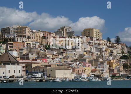 View of Sciacca, Sicily, Italy - Stock Photo