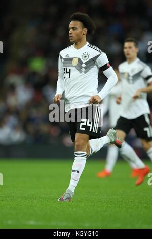 London, UK. 10th Nov, 2017. Leroy Sane of Germany at the England v Germany friendly international at Wembley Stadium, - Stock Photo