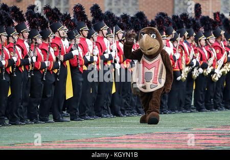 College Park, Maryland, USA. 11th Nov, 2017. University of Maryland Terrapins mascot before a NCAA football game - Stock Photo