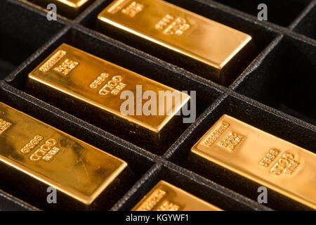Gold Bullions Storage - Stock Photo