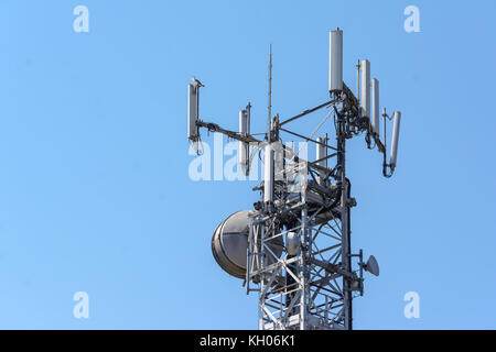 reticular construction to support antennas for smartphones and cell phones - Stock Photo