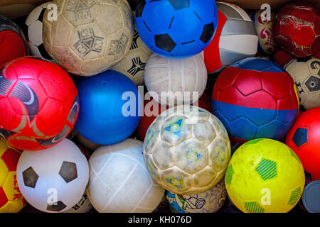 set of colored balloons to play ball - Stock Photo