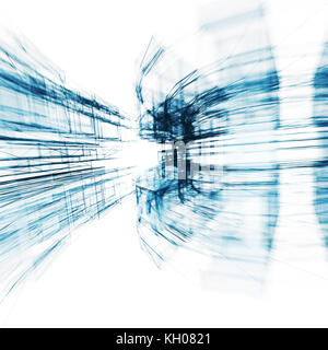 Transparent abstract. Concept lines design 3D rendering - Stock Photo