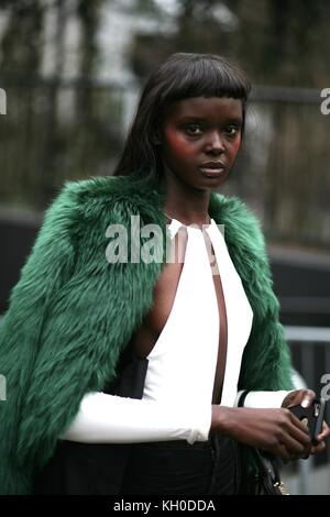 Dukie Thot during Christopher Kane London Fashion Week AW17 London 18th Feb 2017 Street Style - Stock Photo