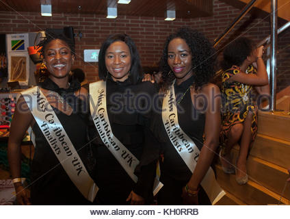 Miss Caribbean UK Finalists at the Commonwealth Fair , 11th Nov, 2017, London - Stock Photo