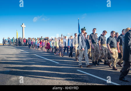Remembrance Day at Budleigh Salterton - Stock Photo