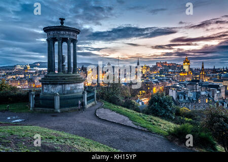 View from Carlton Hill at Night - Stock Photo