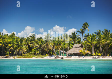 Carribean island, beautiful panoramic view - Stock Photo