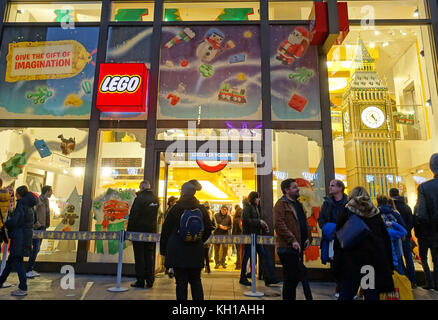 Lego Store, Leicester Square, London - Stock Photo