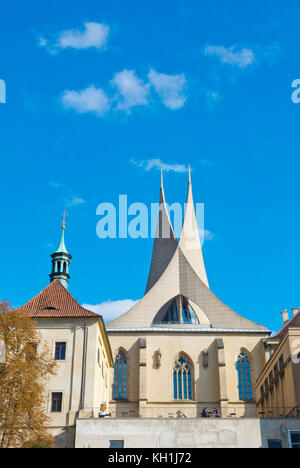 Emauzske opatstvi, Emmaus monastery, Palackeho namesti, Prague, Czech Republic - Stock Photo