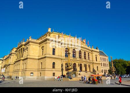 Namesti Jana Palacha, with Rudolfinum concert hall, Prague, Czech Republic - Stock Photo