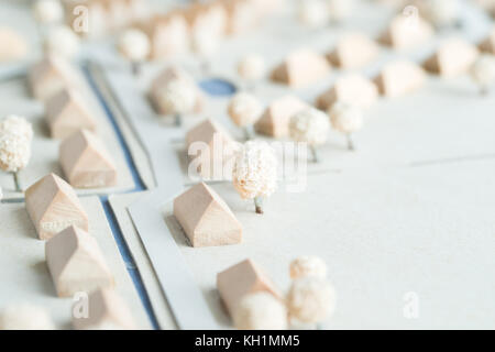 Model of a village Urbanism and Architecture Planning - Stock Photo