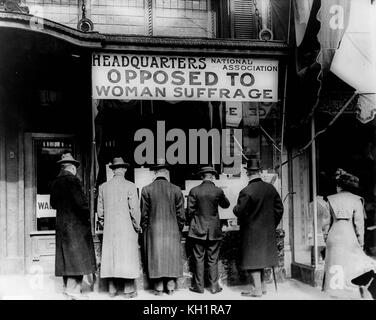 Headquarters of the National Association Opposed to Woman Suffrage, United States, early 20th century - Stock Photo