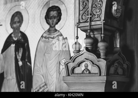within the Orthodox Church in Russia are the icons - Stock Photo