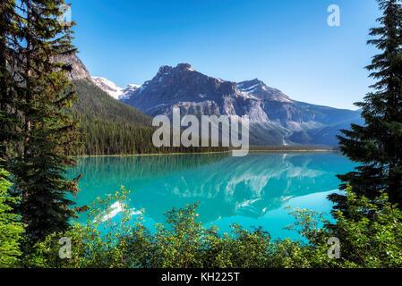 Emerald Lake in Yoho National Park, Canada - Stock Photo