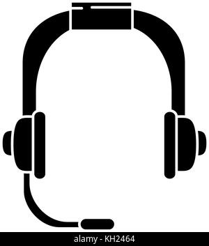 headset communication device icon - Stock Photo