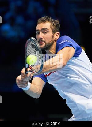 ATP Tennis, London, November 12, 2017 Alexander (Sascha) ZVEREV, GER  beats Marin CILIC, CRO 6-4,3-6,6-4   at the - Stock Photo