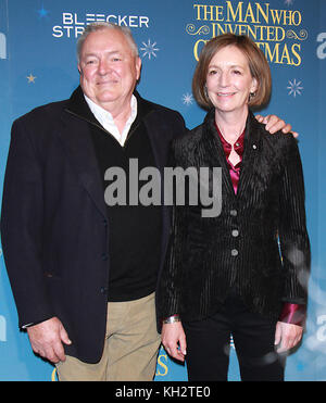 New York, USA. 12th Nov, 2017. 2017Les Standiford, Susan Coyne, attend Bleecker Street present a special screening - Stock Photo