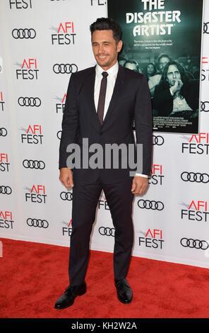Los Angeles, USA. 12th Nov, 2017. LOS ANGELES, CA. November 12, 2017: James Franco at the AFI Fest premiere for - Stock Photo