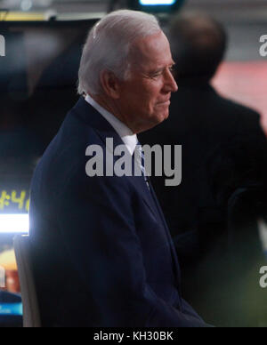 New York, NY, USA. 13th Nov, 2017. Joe Biden at NBC's Today Show promoting his new book Promise Me, Dad: A Year - Stock Photo